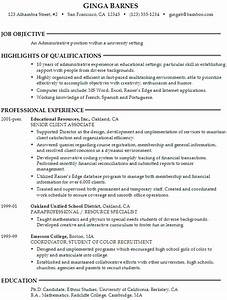 resume administrative position at a university susan With resume templates for administrative positions