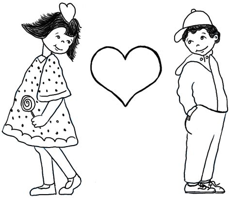 draw boy  girl  puppy love  valentines day