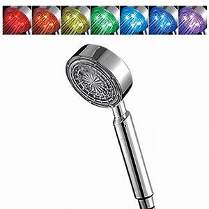 Pommeau De Douche Lumineux : ancheer pommeau de douche lumineux color e led 7 ~ Dailycaller-alerts.com Idées de Décoration