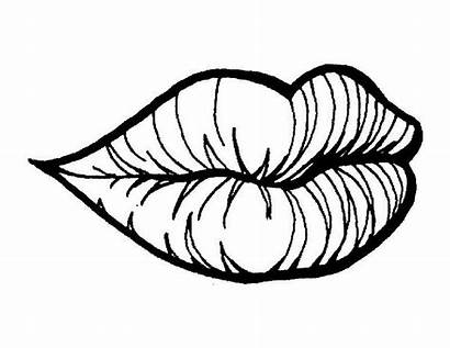 Coloring Lips Pages Mouth Clipart Template Printable