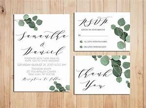 greenery wedding invitation printable wedding invitations With etsy wedding invitations greenery