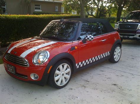 Modifikasi Mini Cooper Convertible by Custom Mini Cooper Checkered Vinyl Decal Stripe Kit Ebay