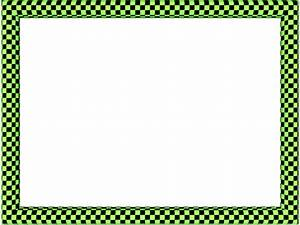 Green Black Funky Checker Rectangular Powerpoint Border ...
