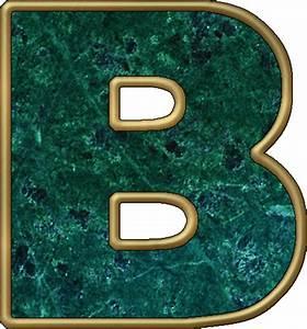 Presentation Alphabets: Green Marble Letter B