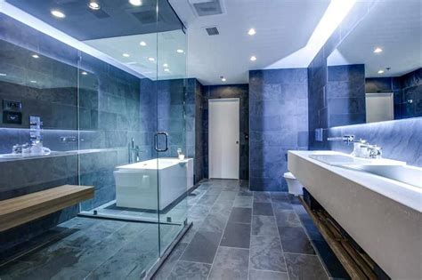 Modern Bathroom Blue by 45 Blue Master Bathroom Ideas For 2018