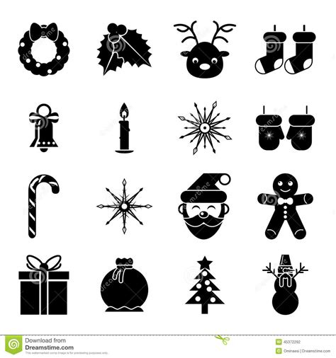 new year symbol new year symbols accessories icons stock vector illustration of cookies gift 45372292