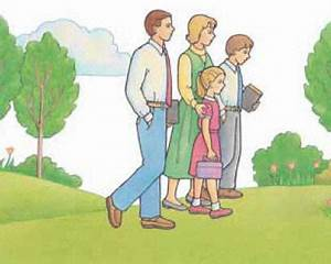 Family Going To Church Clipart - ClipartXtras