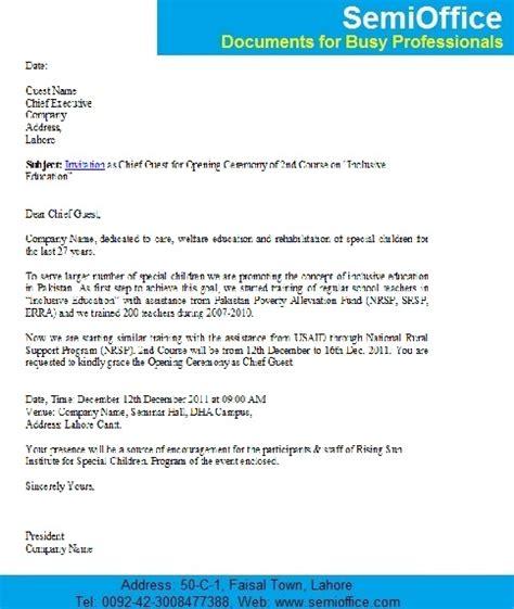 wedding program wording sles invitation letter for new office opening ceremony