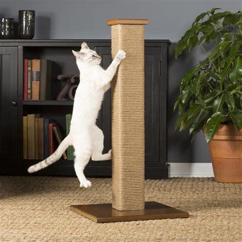 square jute cat scratching post  prevue pet hauspanther