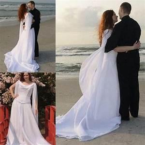 cheap retro celtic wedding dresses with long sleeves angel With wedding dress with angel wings
