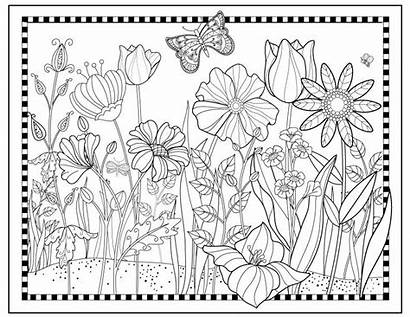 Garden Coloring Flower Printable Magical Flowers Butterfly