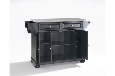 stainless steel top kitchen island alexandria stainless steel top kitchen island in black