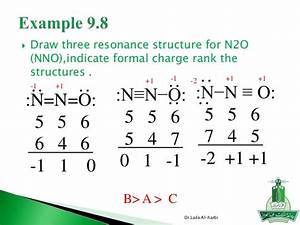 Assign Formal Charges To The Resonance Structures For N2o