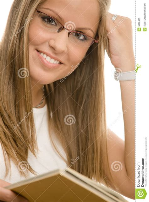 Beautiful College Girl Stock Photo Image Of Clean Bright