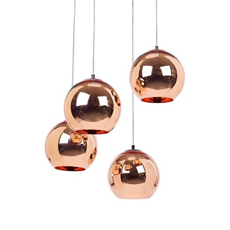 replica tom dixon copper shade glass pendant light