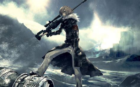 Anime Sniper Wallpaper - winter snow guns pixiv sniper rifles anime anime