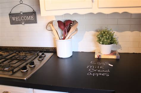 can you paint countertops with regular paint march orchard chalkboard countertops update