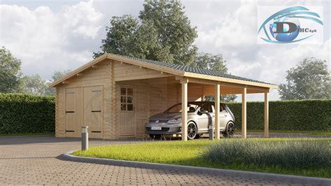Carport An Garage by Garage Med Carport 40 M2 Dihc Dk