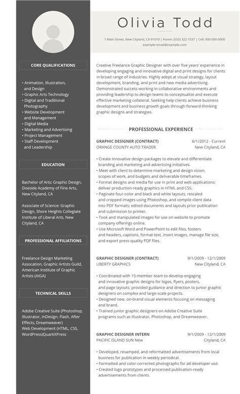 Best Resumes by 99 Free Professional Resume Formats Designs Livecareer