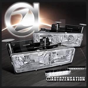 88 K Silverado Gmc Sierra Chrome Headlights Led