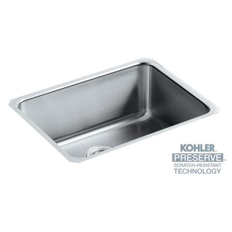 kohler undermount stainless steel kitchen sinks kohler undertone undermount stainless steel 23 in single 9652