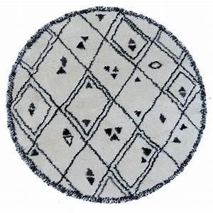Tapis Blanc Rond : tapis farandole noir et blanc rond ~ Dallasstarsshop.com Idées de Décoration