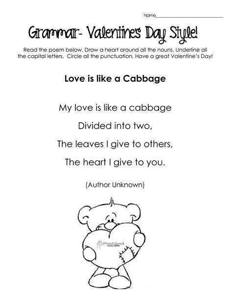 silly s day poems for grammar practice free 756 | v day grammar poem 2