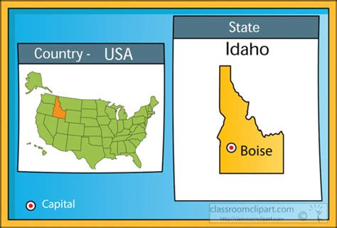 Us State Maps Clipart- Boise-idaho-2-state-us-map-with