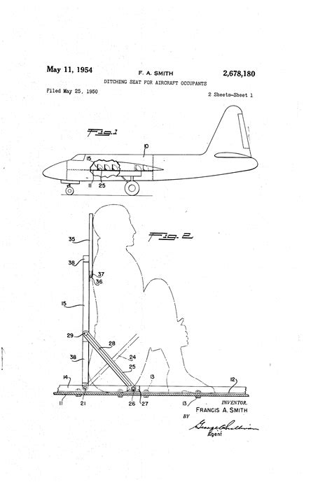 patent us2678180 ditching seat for aircraft occupants patents