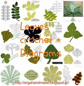 Ergahandmade  Leaves Crochet   Diagrams   Video