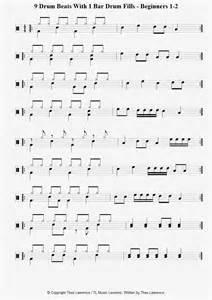 Beginner Drum Beats Sheet Music