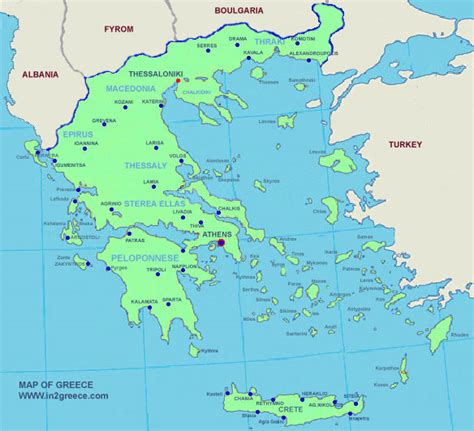 greece map detailed maps  greece