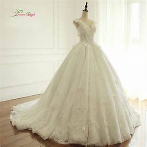 Dream angel elegant flowers lace princess wedding dress for Robe de reve
