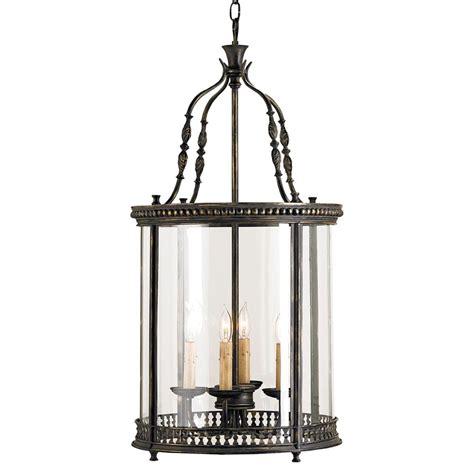 black lantern pendant light gardner vintage glass panels black 4 light lantern