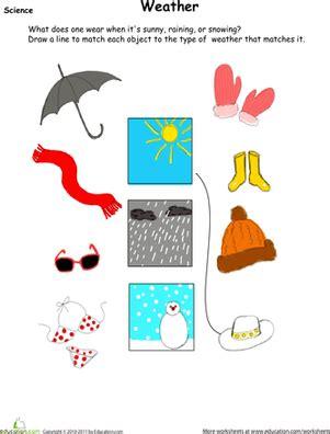 weather wear matching worksheet education com