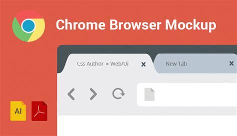 chrome browser mockup design template vector