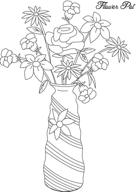 flower vase coloring flower vase picture coloring page coloring sky