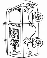 Coloring Mystery Machine Pages Doo Scooby Topcoloringpages Sheet sketch template