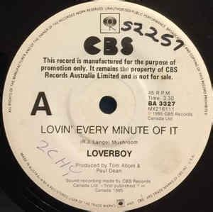 Loverboy is a canadian rock group formed in 1979 in calgary, alberta. Loverboy - Lovin' Every Minute Of It (1985, Vinyl) | Discogs