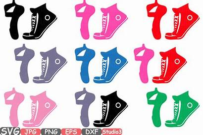 Svg Cricut Vinyl Silhouette Cutting Shoes Ballet