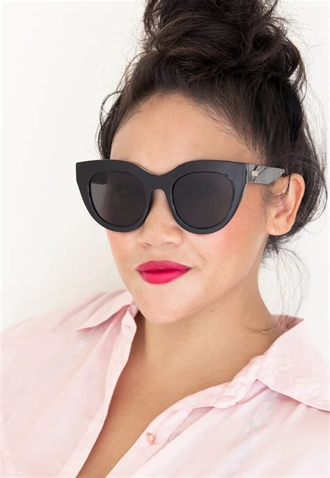 Le Specs Air Heart Sunglasses - Black - ShopperBoard