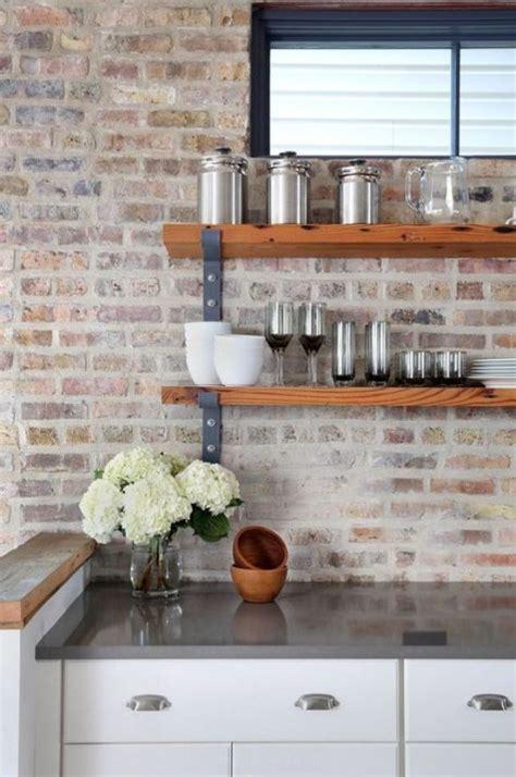 white brick backsplash kitchen 25 timeless brick kitchen backsplashes comfydwelling 1256