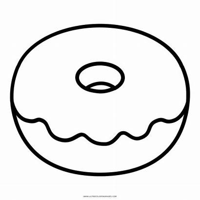 Donut Coloring Donuts Clipart Doughnut Printable Sheet