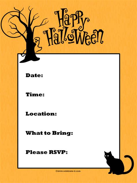 create halloween invitations festival collections