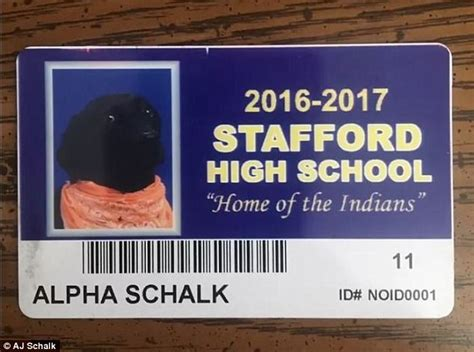 high school includes students service dog  yearbook