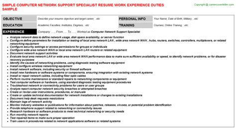computer network support resume peer support apprentice resumes sles