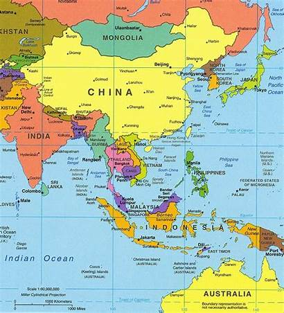 Asia Southeast Map Political Country East South