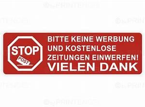 Verbot Aufkleber Keine Werbung Keine Zeitungen