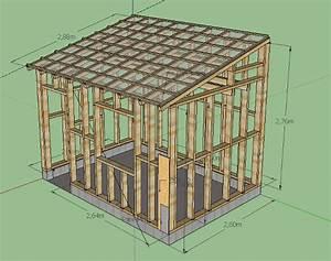 plan cabanon bois revetements modernes du toit With plan de cabanon de jardin
