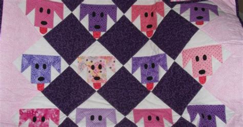 Pink And Purple Puppy Baby Quilt By Somethinouttanothin On